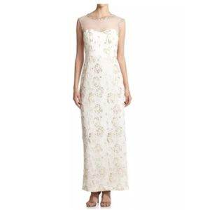 New Sue Wong Nocturne Illusion Roses Gown